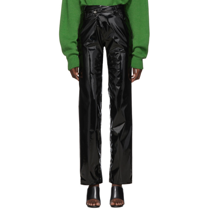 Ottolinger Pantalon noir Pleather Diagonal