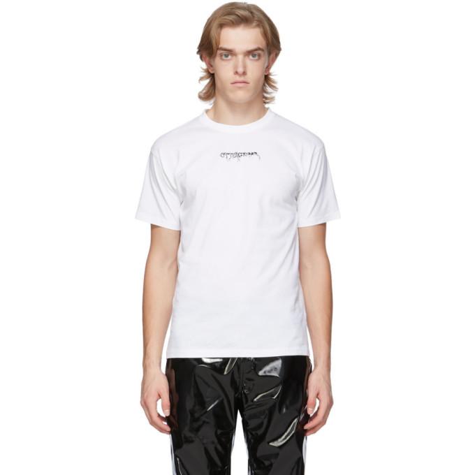 Ottolinger T-shirt a logo blanc exclusif a SSENSE