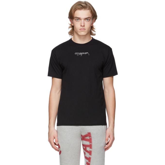 Ottolinger T-shirt a logo noir exclusif a SSENSE