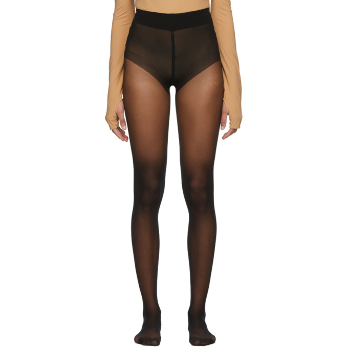 Image of Wolford Black Pure 10 Tights