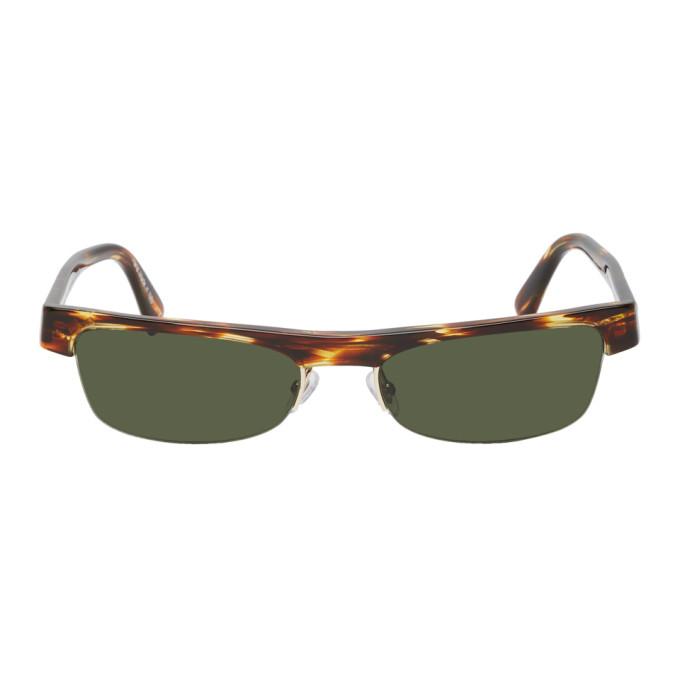 Alain Mikli Paris Tortoiseshell and Green Alexandre Vauthier Edition Ketti Sunglasses