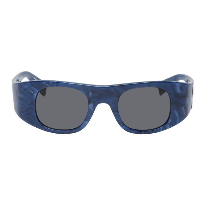 Alain Mikli Paris Blue and Grey Alexandre Vauthier Edition Ansolet Sunglasses