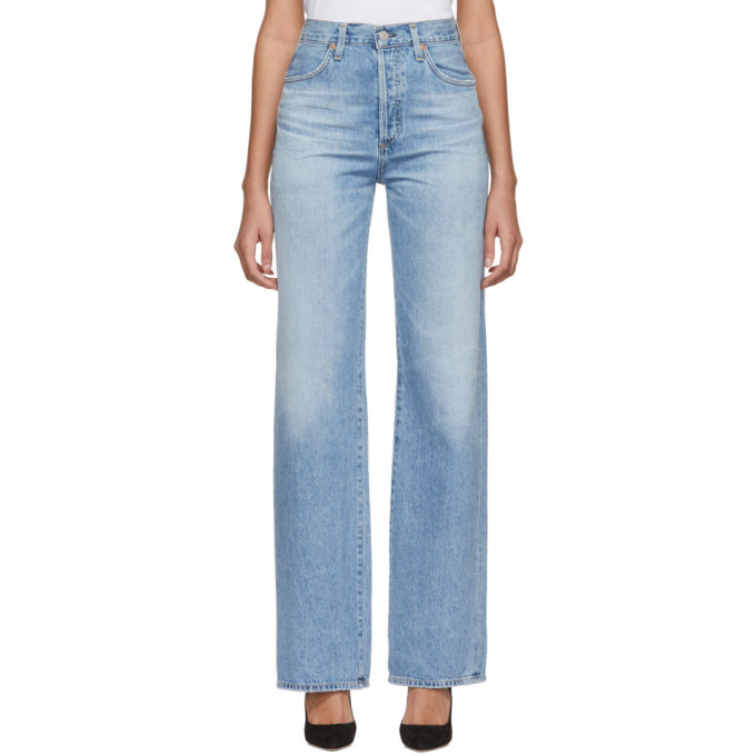 Image of Citizens of Humanity Blue Annina High-Rise Jeans
