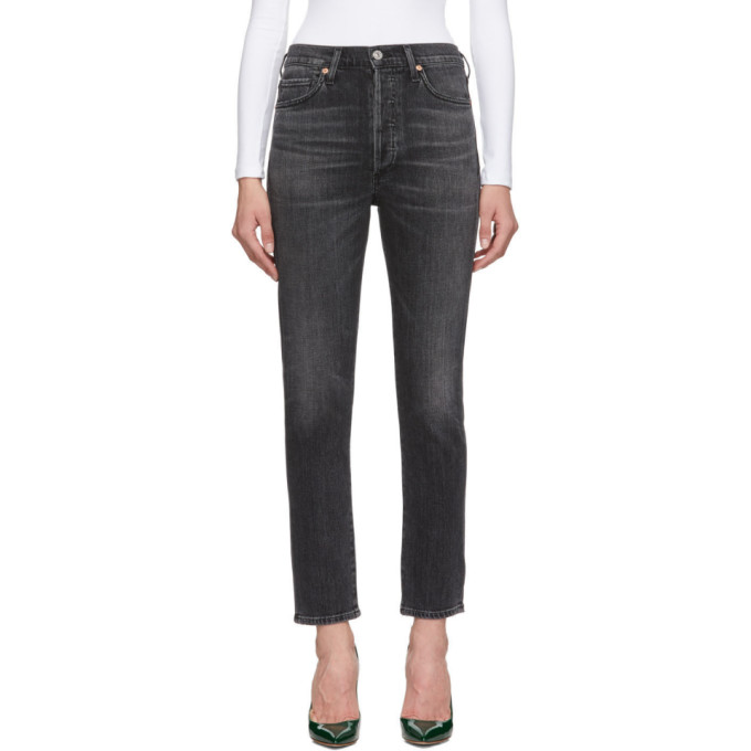 Citizens of Humanity Jean noir Olivia High-Rise Slim Ankle