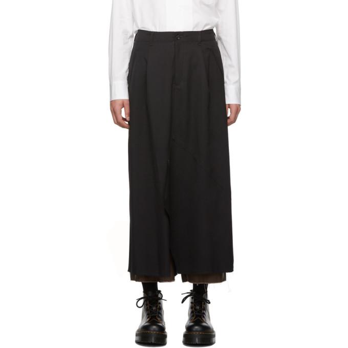 Sulvam Pantalon noir Layered Skirt