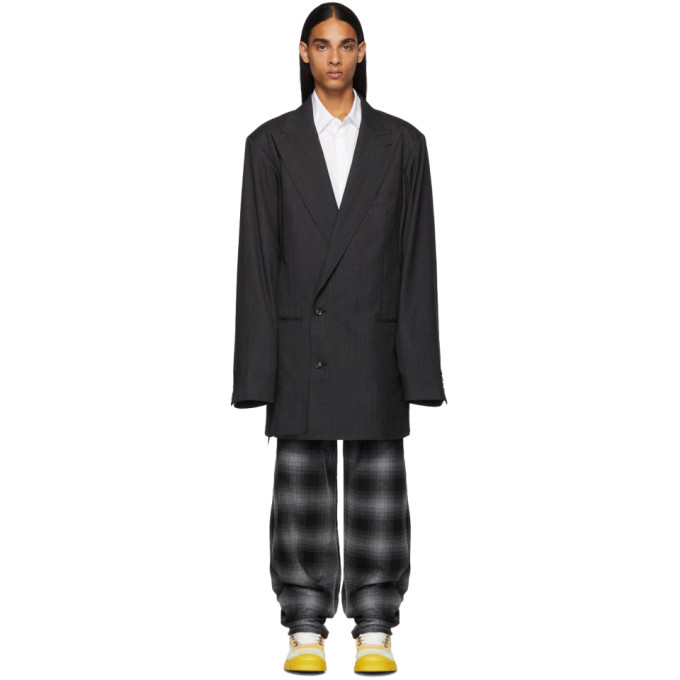 Doublet Blazer gris Surprise Pattern Tailored