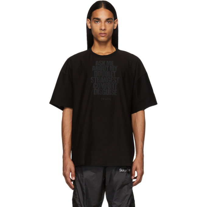 Doublet Black Disguise Embroidery T-Shirt