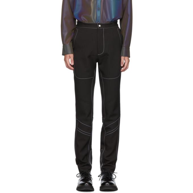 Daniel W. Fletcher Pantalon a coutures contrastantes noir