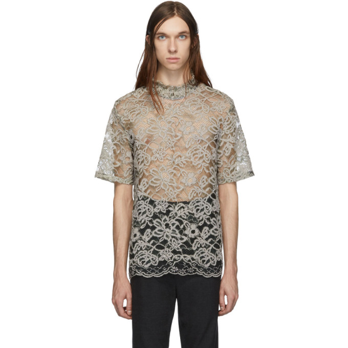 Palomo Spain T-shirt en dentelle vert exclusif a SSENSE