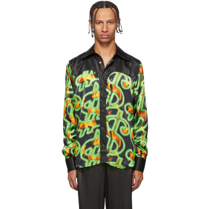 SSS World Corp Chemise western noire Fire