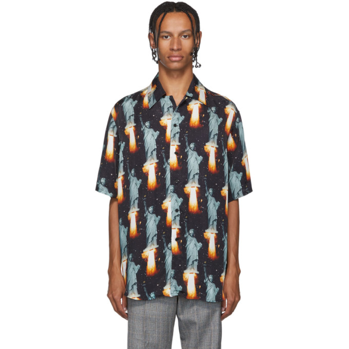 SSS World Corp Chemise hawaienne noire Go Home