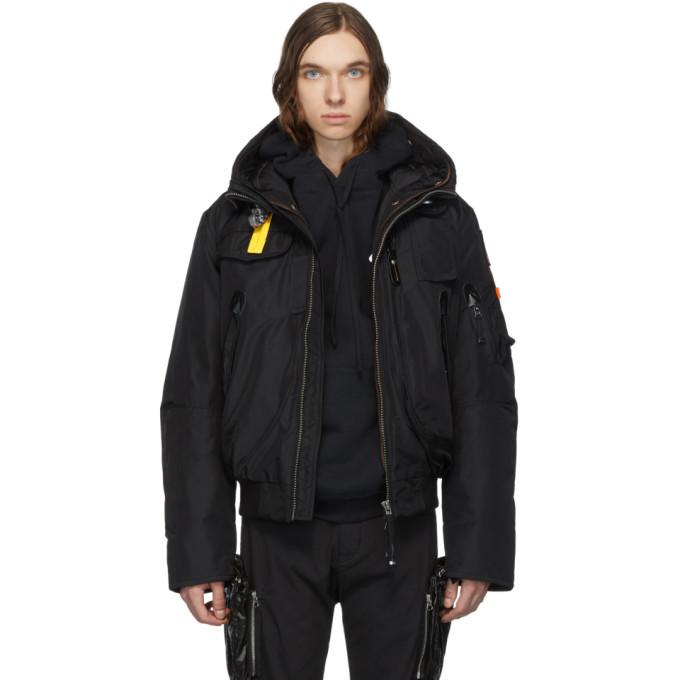 Parajumpers Black Down Masterpiece Gobi Base Jacket
