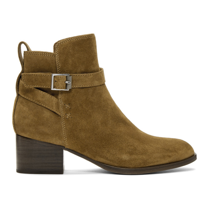 rag and bone Brown Suede Walker Buckle Boots