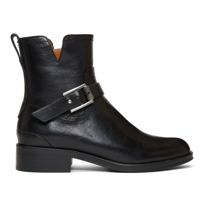 rag and bone Black Abel Moto Boots