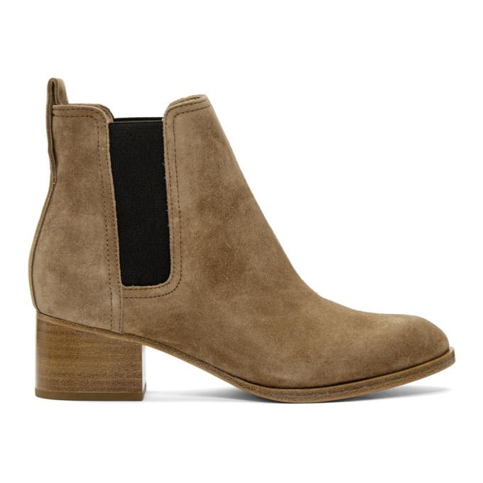rag and bone Brown Suede Walker Boots