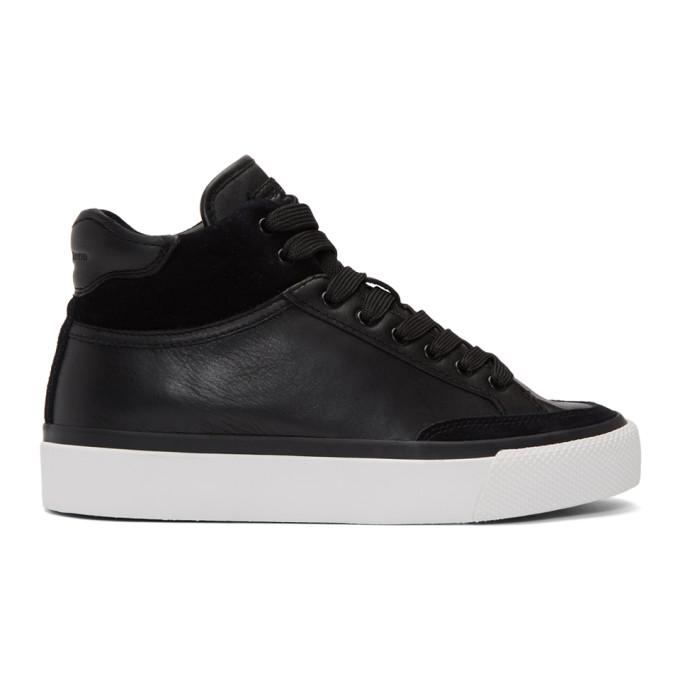 rag and bone Black RB Army High-Top Sneakers