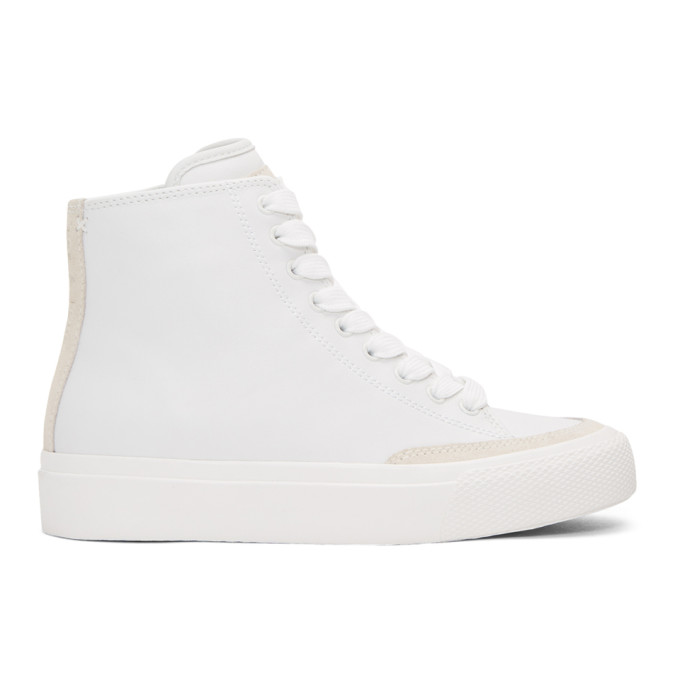 rag and bone White RB High-Top Sneakers