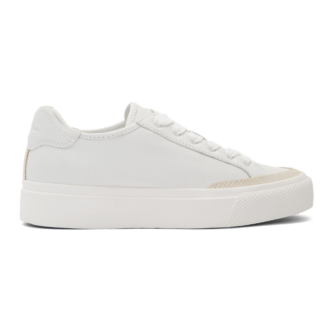 rag and bone White RB Army Low Sneakers