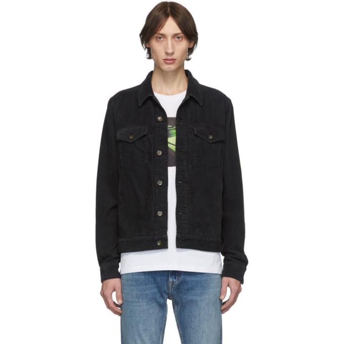 rag and bone Black Corduroy Definitive Jacket