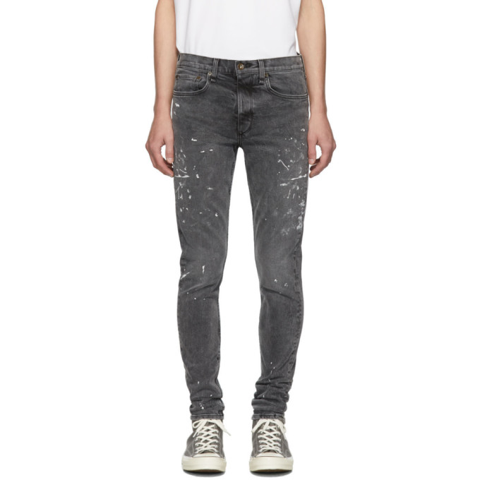 Rag & Bone Jeans RAG AND BONE BLACK PAINT FIT 1 JEANS