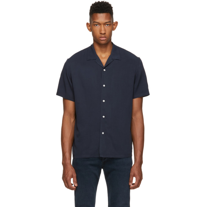 rag and bone Chemise bleu marine Avery