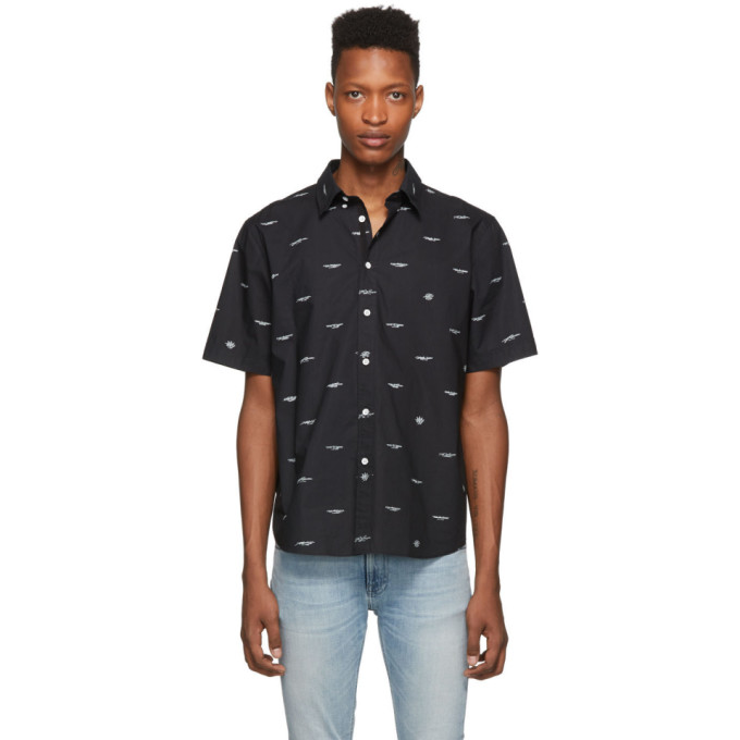 rag and bone Chemise a manches courtes noire Smith