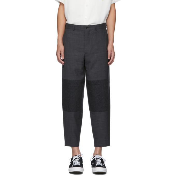 Comme des Garcons Homme Deux Grey Two-Tone Trousers