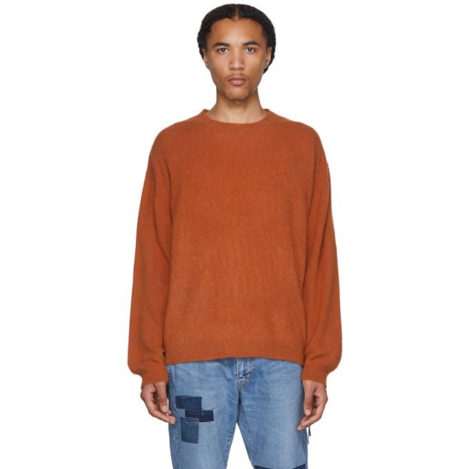 Remi Relief Pull en cachemire orange Shaggy