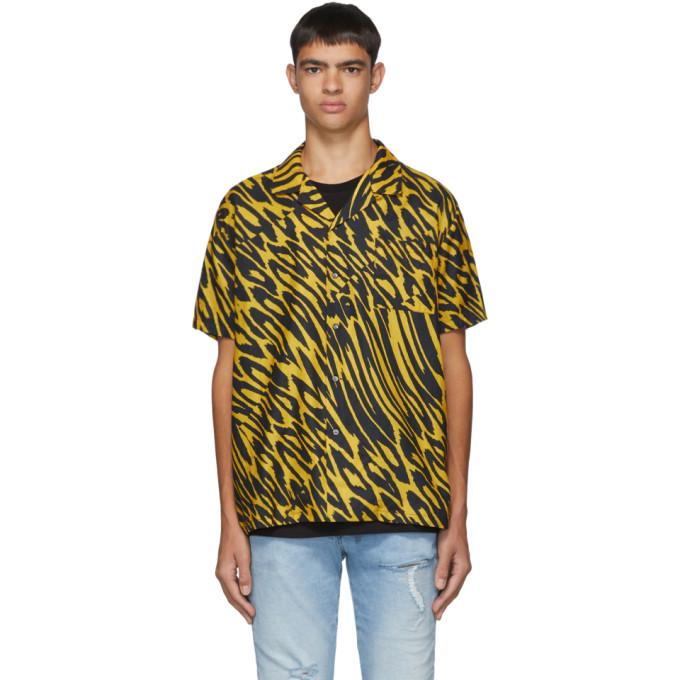 Double Rainbouu Chemise noire et jaune Leopard Party Animal