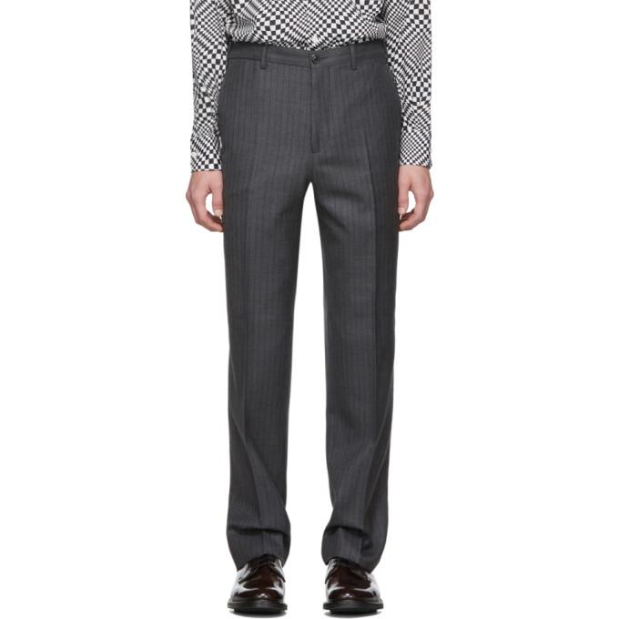 Cobra S.C. Pantalon en laine a rayures fines gris Classic