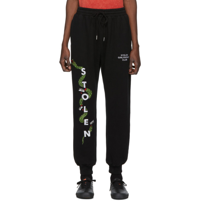 Stolen Girlfriends Club Pantalon de survetement noir Razor Snake