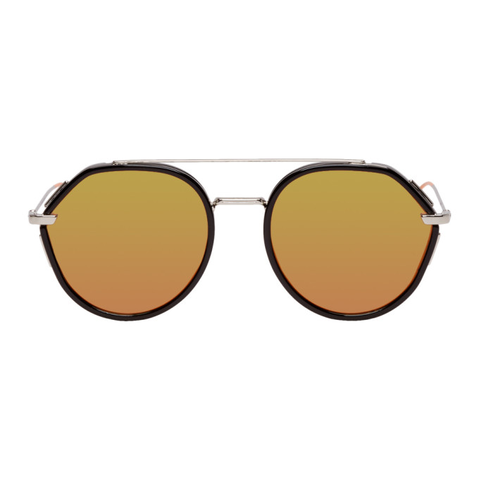 Dior Homme Black and Silver Dior0219S Sunglasses