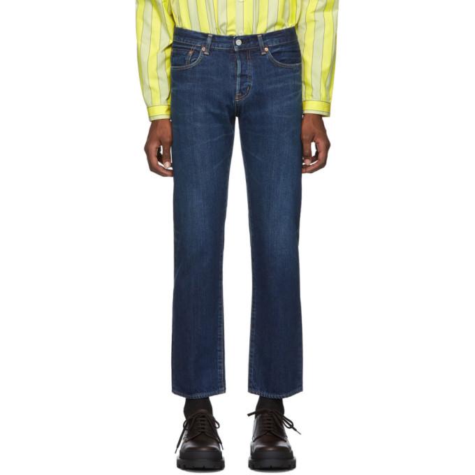 Moussy Vintage Jean a jambe droite bleu Concordia