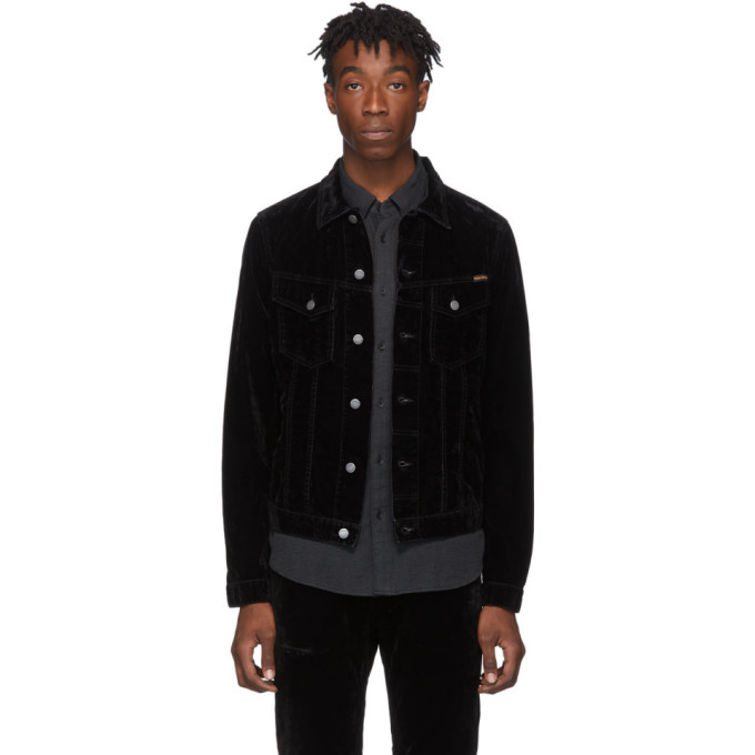 Nudie Jeans Black Velvet Billy Jacket