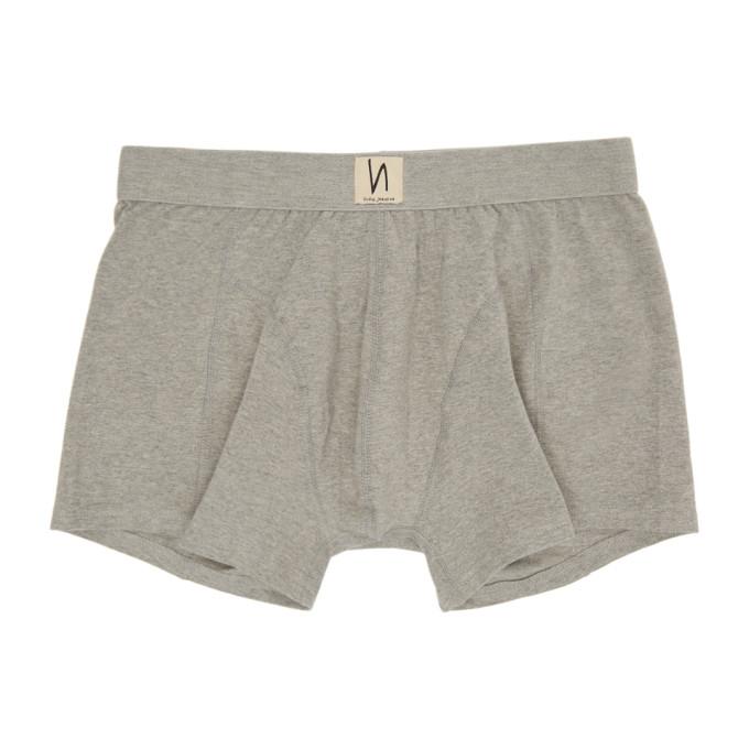 Nudie Jeans Boxer gris Solid