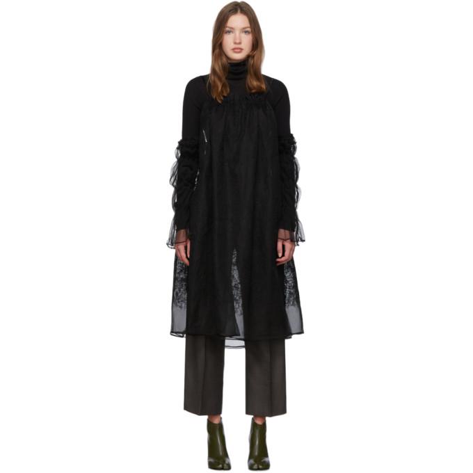 Renli Su Robe noire Cold-Shoulder