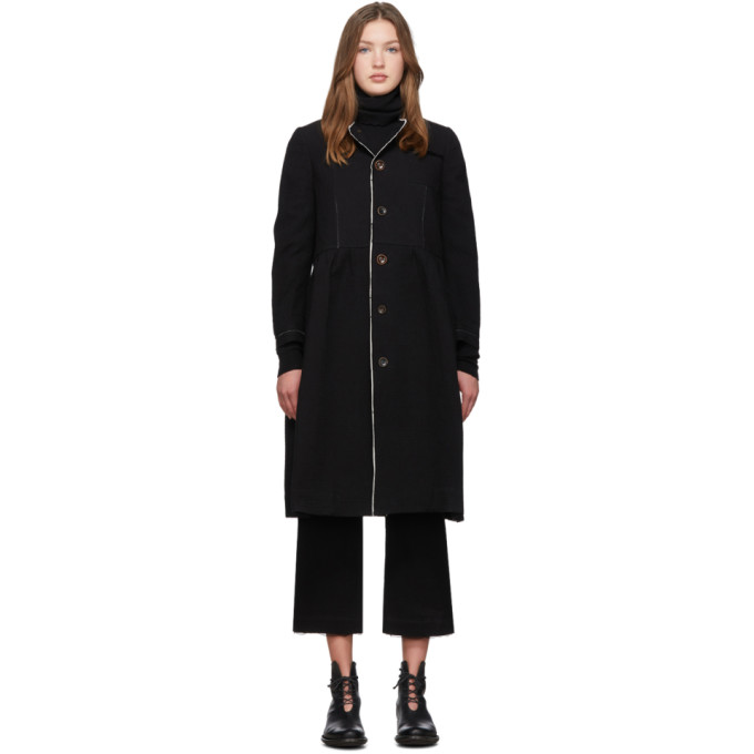 Renli Su Manteau en coton noir