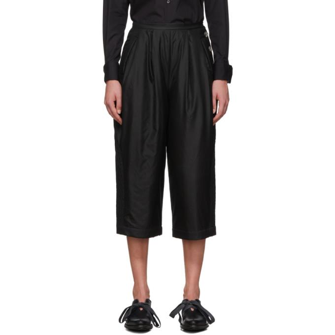 Renli Su Pantalon en soie Mulberry noir