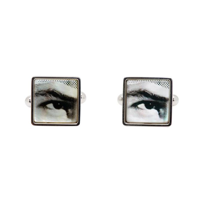 Hugo Silver E-Collage Squared Cufflinks