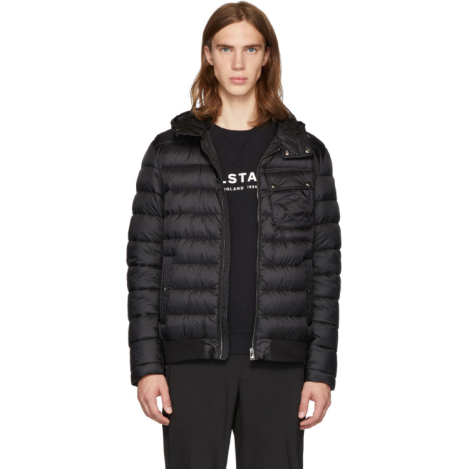 Image of Belstaff Black Down Streamline Jacket