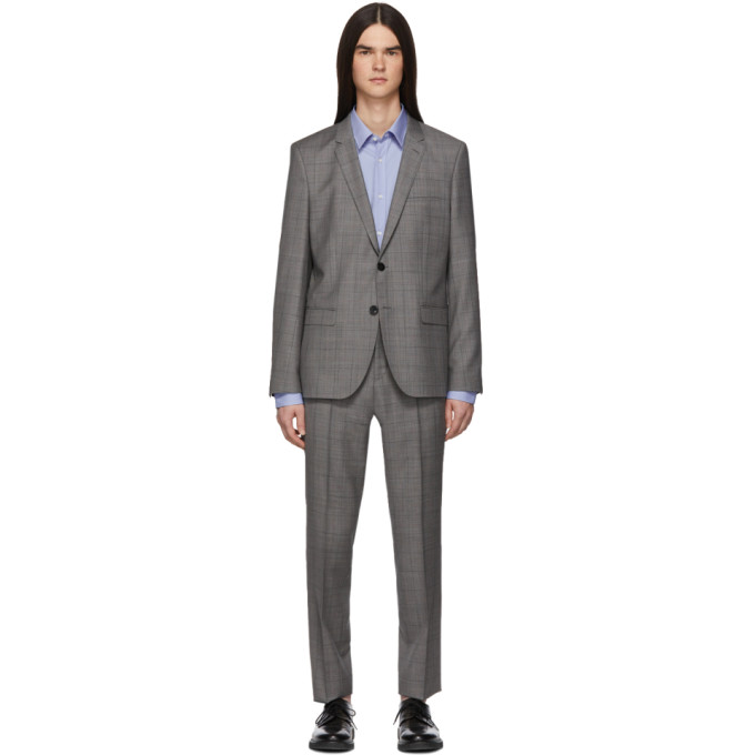 HUGO | Hugo Grey Check Arti/Hesten Suit | Goxip
