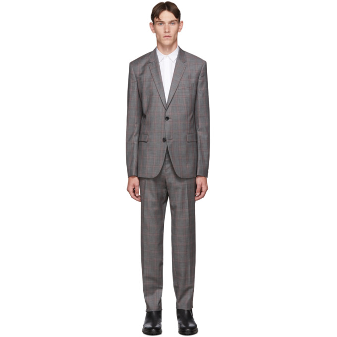 HUGO | Hugo Navy And Grey Check Astian And Hets Suit | Goxip