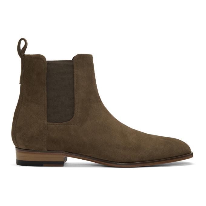 Hugo Khaki Suede Cult Chelsea Boots