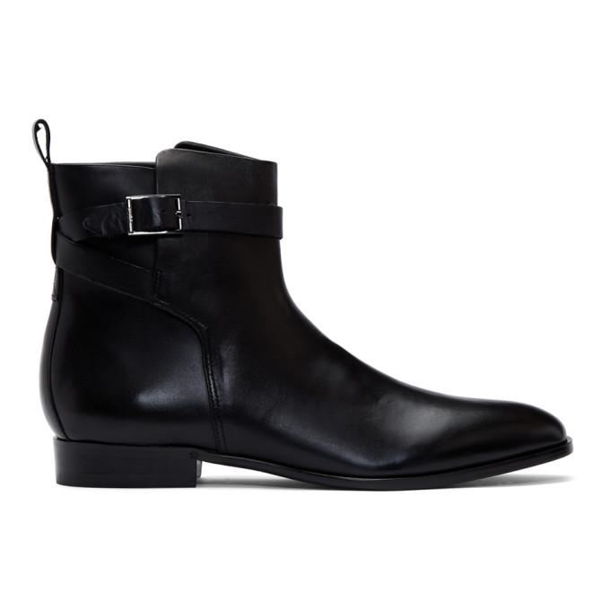 Hugo Black Cult Buckle Boots