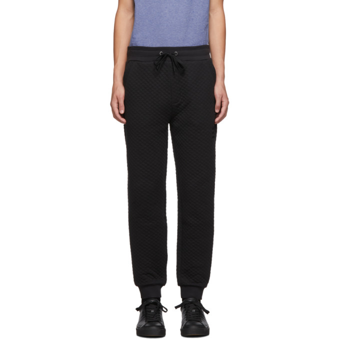 Boss Black Quilted Lounge Pants