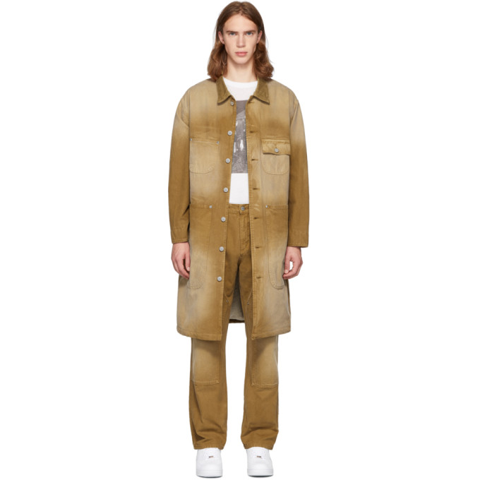 Billy Trench en toile brun clair Workwear