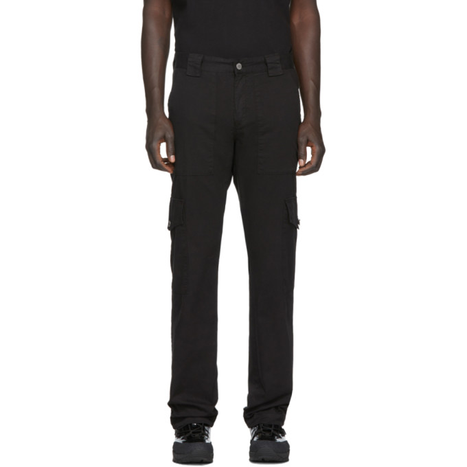 Billy Pantalon cargo noir Patch