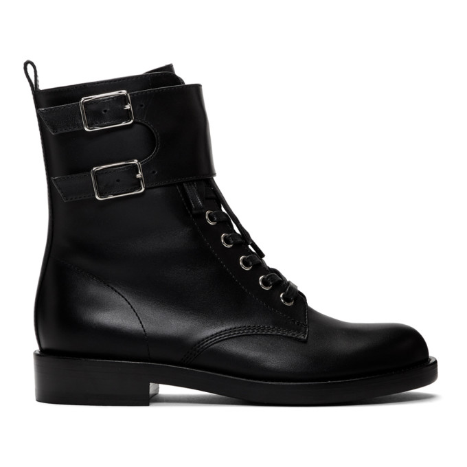 Gianvito Rossi Black Lagarde Military Boots