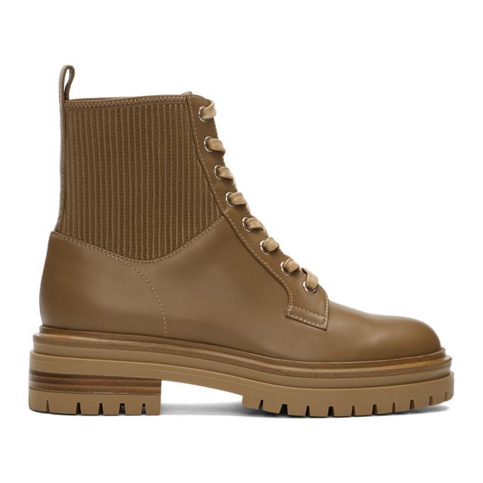 Gianvito Rossi Tan Martis 20 Boots