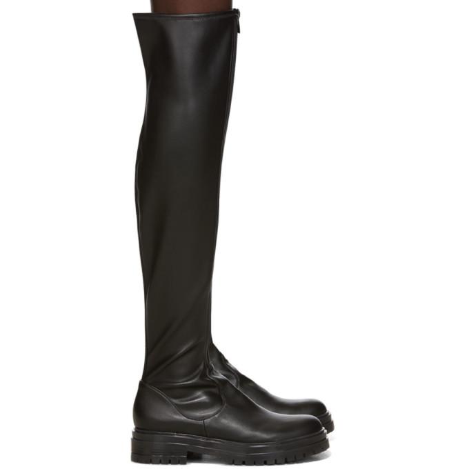 Gianvito Rossi Black Marsden Over-The-Knee Boots